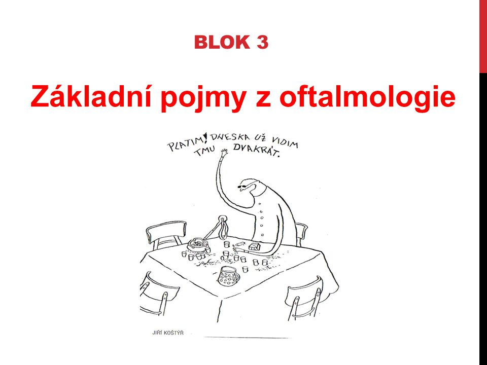 BLOK 3 Základní pojmy z oftalmologie
