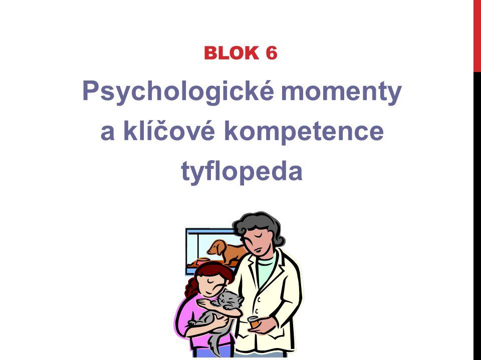 Psychologické momenty a klíčové kompetence tyflopeda BLOK 6