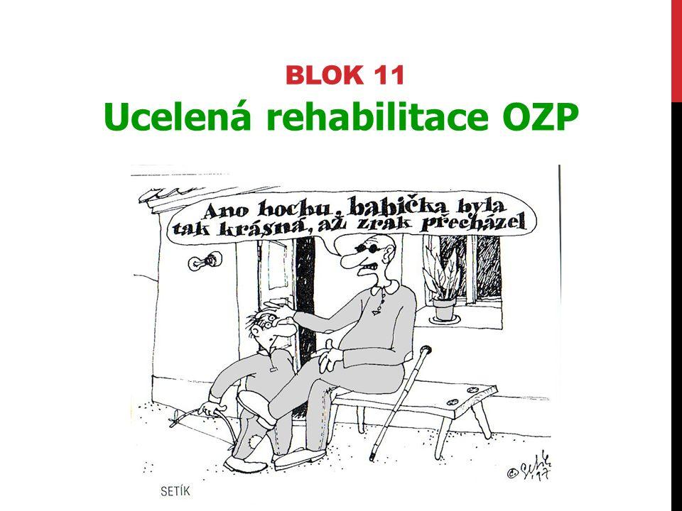 BLOK 11 Ucelená rehabilitace OZP