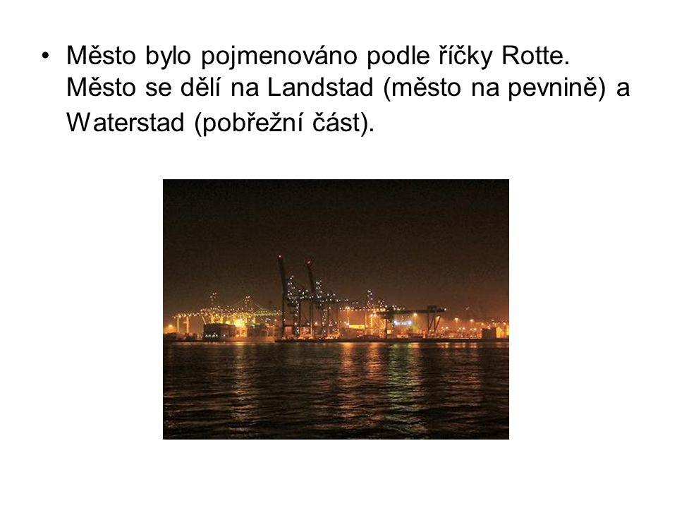 Město bylo pojmenováno podle říčky Rotte. Město se dělí na Landstad (město na pevnině) a Waterstad (pobřežní část).