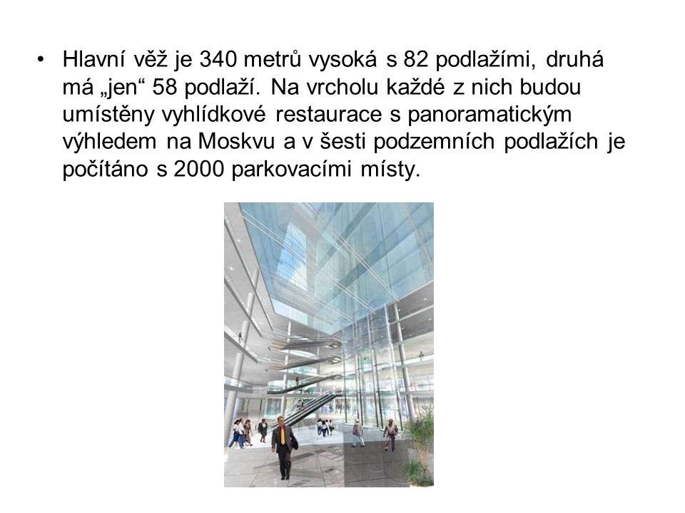 """Hlavní věž je 340 metrů vysoká s 82 podlažími, druhá má """"jen"""" 58 podlaží. Na vrcholu každé z nich budou umístěny vyhlídkové restaurace s panoramatický"""