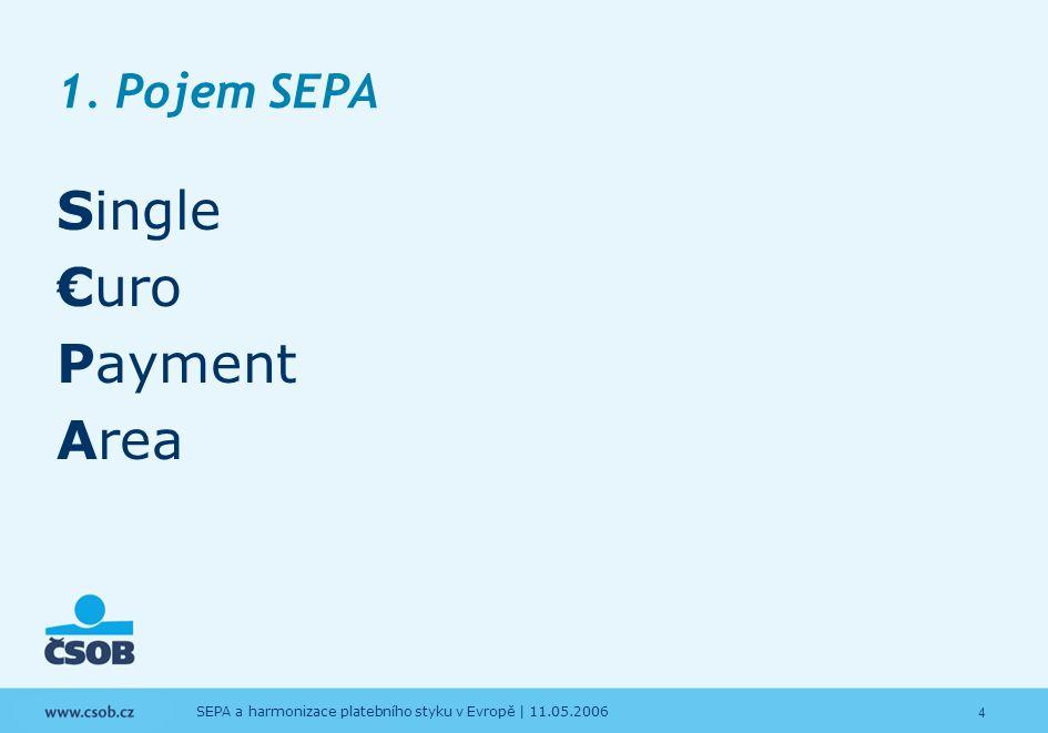 5 SEPA a harmonizace platebního styku v Evropě   11.05.2006 1.
