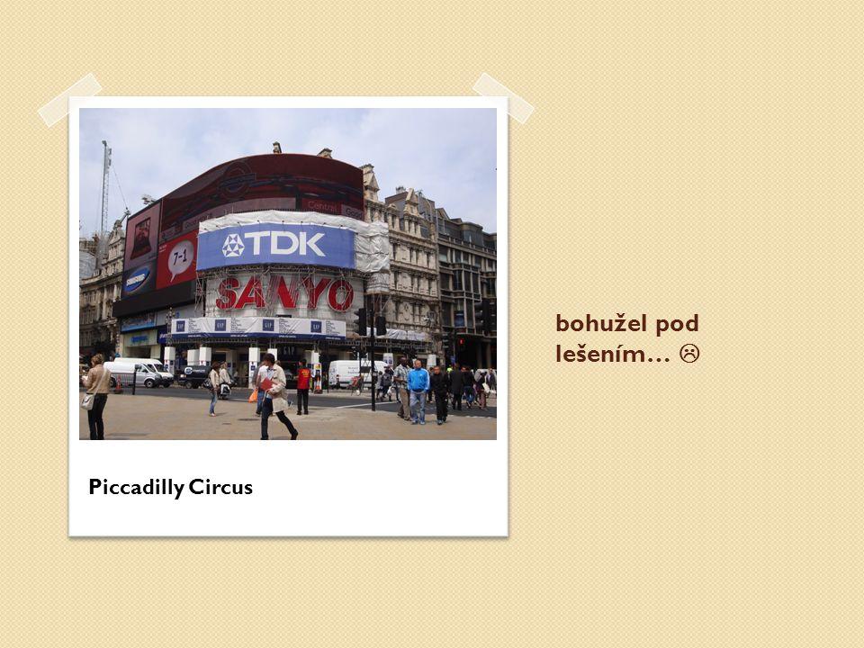 bohužel pod lešením…  Piccadilly Circus