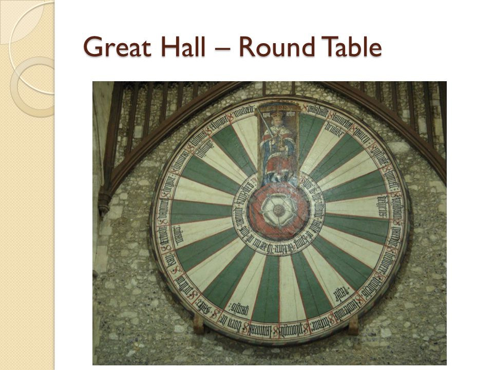 Great Hall – Round Table