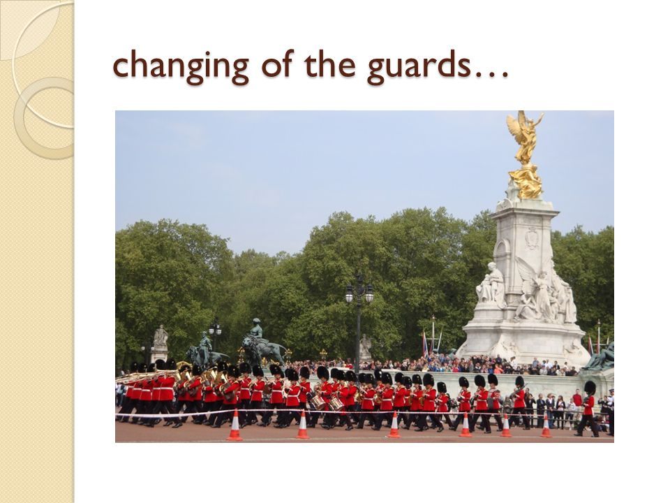 changing of the guards…