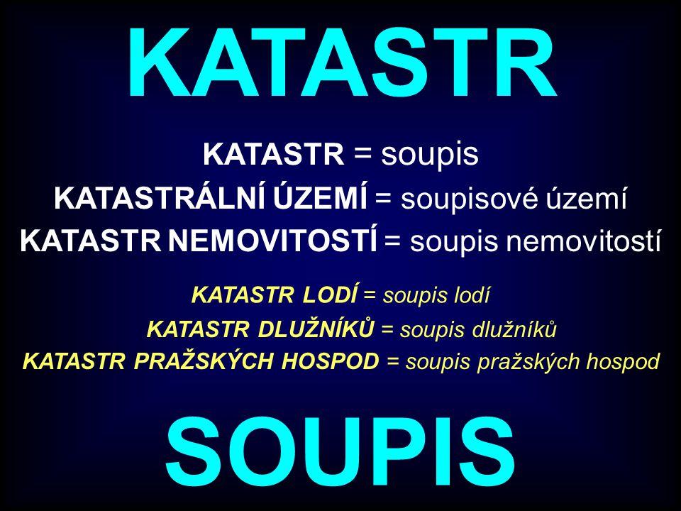 KATASTR NEMOVITOSTÍ ČR (KN) (od 1.1.1993) Katastr nemovitostí ČR byl konstituován zákonem č.