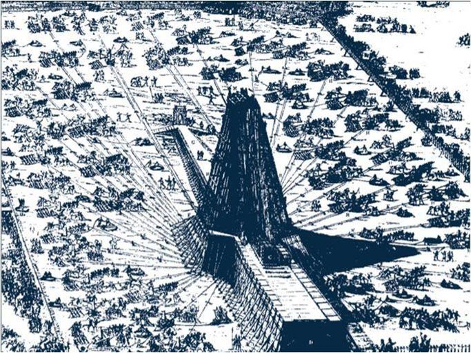 10. září 1586 byl vztyčen uprostřed náměstí svatého Petra v Římě (Vatikánu) egyptský obelisk starý 4000 let, vysoký více než byl vztyčen uprostřed nám