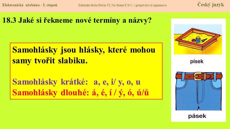 18.3 Jaké si řekneme nové termíny a názvy.Elektronická učebnice - I.