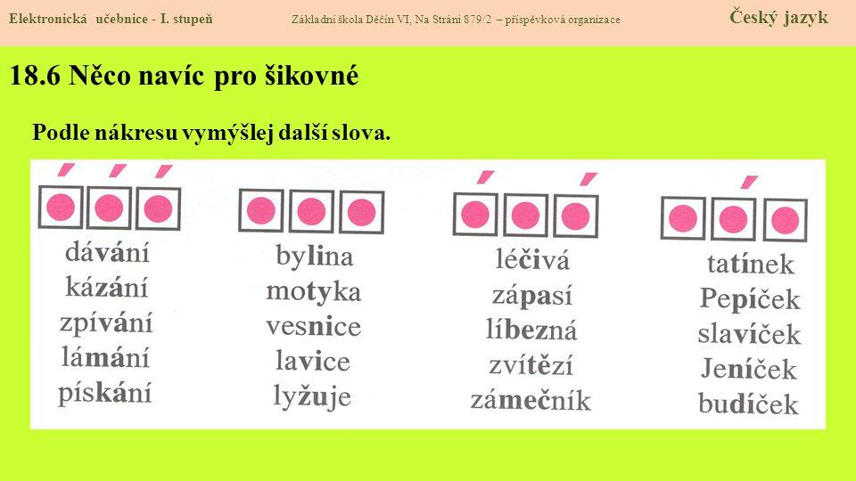 18.5 Procvičení a příklady Elektronická učebnice - I.