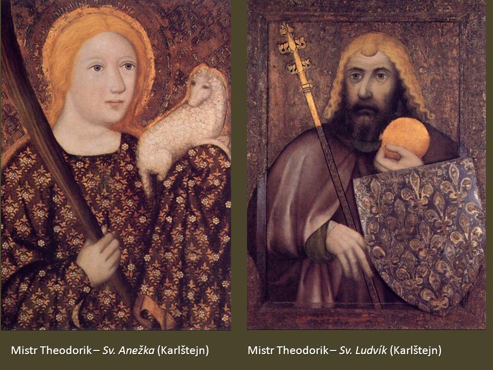 Mistr Theodorik – Sv. Anežka (Karlštejn) Mistr Theodorik – Sv. Ludvík (Karlštejn)
