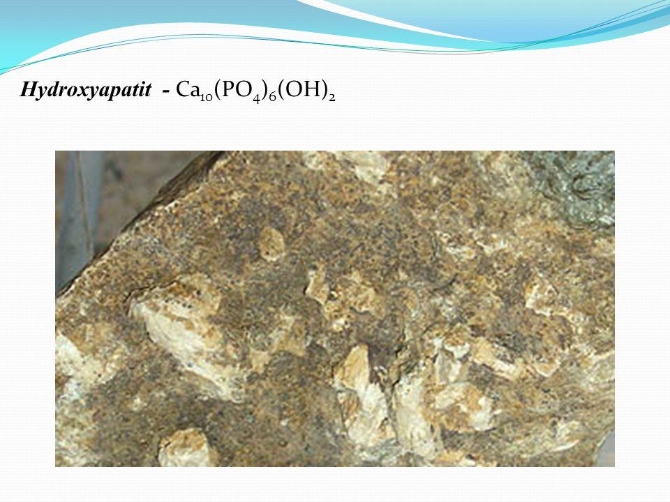 Porézní struktura hydroxyapatitu.