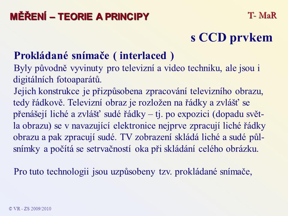 Prokládané snímače ( interlaced ) Byly původně vyvinuty pro televizní a video techniku, ale jsou i digitálních fotoaparátů. Jejich konstrukce je přizp