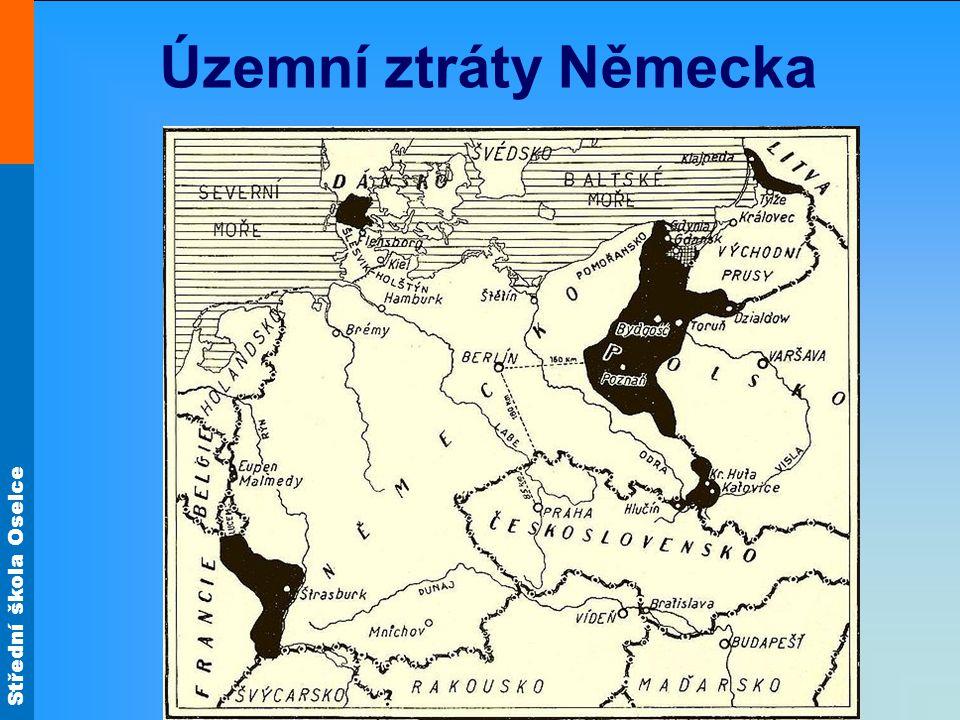 Střední škola Oselce Územní ztráty Německa