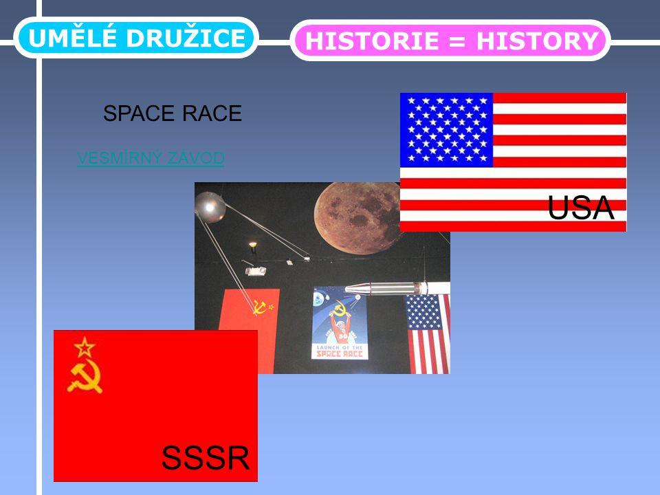 UMĚLÉ DRUŽICE HISTORIE = HISTORY SSSR USA VESMÍRNÝ ZÁVOD SPACE RACE