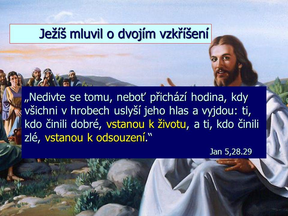 """""""Ostatní mrtví však nepovstanou k životu, dokud se těch tisíc let nedovrší."""" Zjevení 20,5 2. Vzkříšení bezbožných mrtvých"""