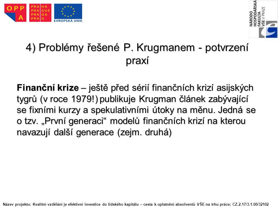 4) Problémy řešené P.