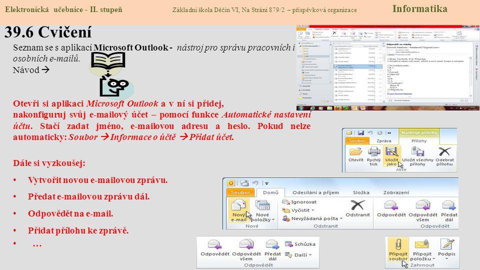 39.6 Cvičení Elektronická učebnice - II.