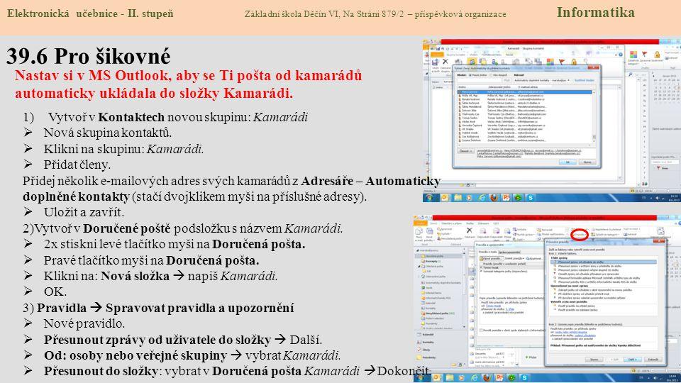 39.6 Pro šikovné Elektronická učebnice - II.