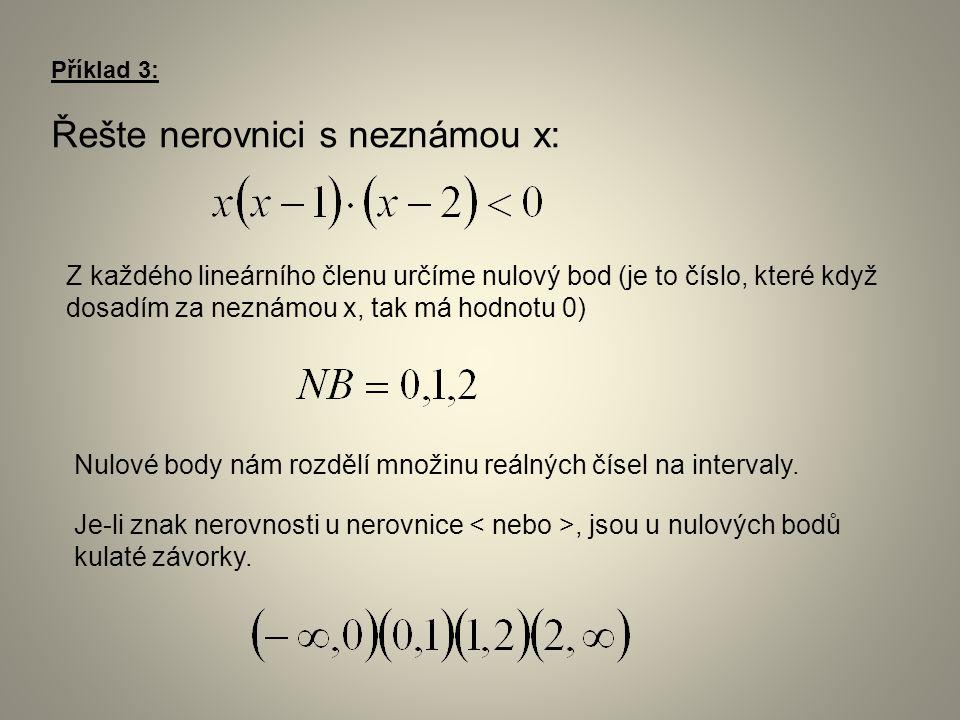 Řešením je interval, ve kterém vyšla kladná hodnota.