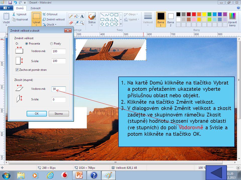 Prohlížení obrázku Změnou zobrazení lze v programu Malování zvolit, jak chcete s obrázkem pracovat.