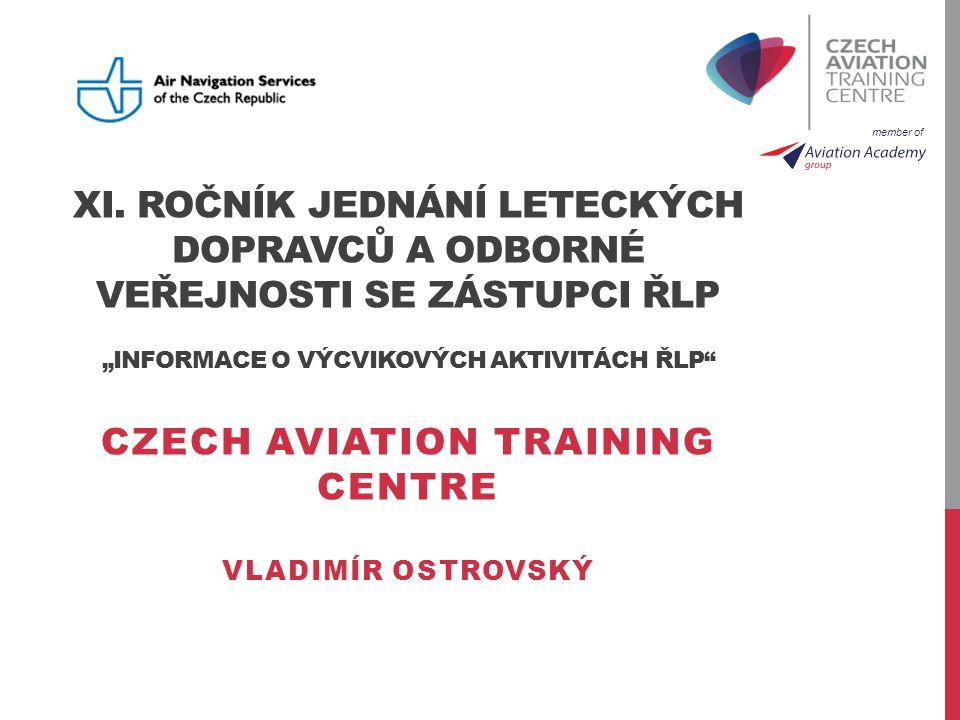 member of CZECH AVIATION TRAINING CENTRE (VÝVOJ) 1923ČSAZALOŽENÍ ČESKÝCH AEROLINIÍ, PRVNÍ LET 1998ČSAVZNIK VÝCVIKOVÉHO STŘEDISKA B737 400/500 2000ČSAPRVNÍ FULL FLIGHT SIMULÁTOR B737 400/500 2006ČSAATR 42/72 FTD (FNPT II) & A320 MFTD 3D A320B737 NG (CAE) 2007ČSAFULL FLIGHT SIMULÁTOR A320 & B737 NG (CAE) PRODEJ DO ŘLP 2012CATCVZNIK (07/2012) & PRODEJ DO ŘLP (10/2012) CATC, s.r.o.