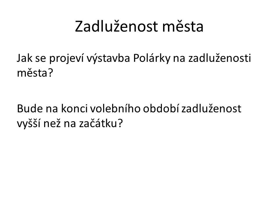 Zadluženost města Jak se projeví výstavba Polárky na zadluženosti města.