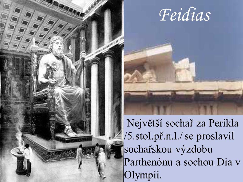 Polykleitos Sochař, který se vyznačuje hledáním harmonie tělesných proporcí.Vzorem je jeho socha Doryfora.