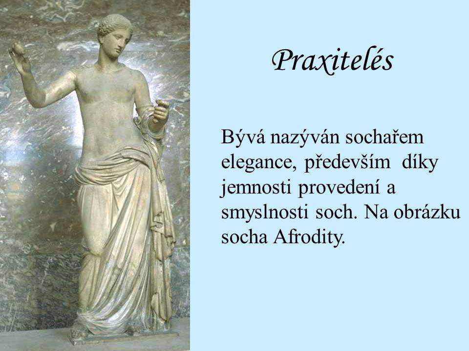 Jmenujte: Významnou sochu sochaře Praxitela.