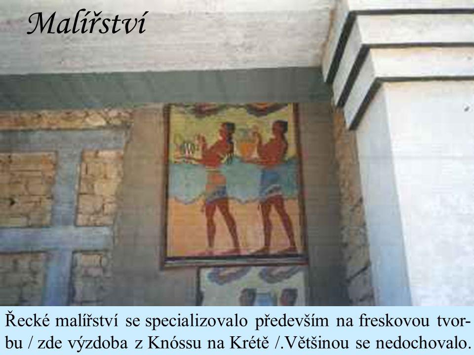 Řečtí sochaři Myrón Polykleitos Feidias Praxitelés Lysippos
