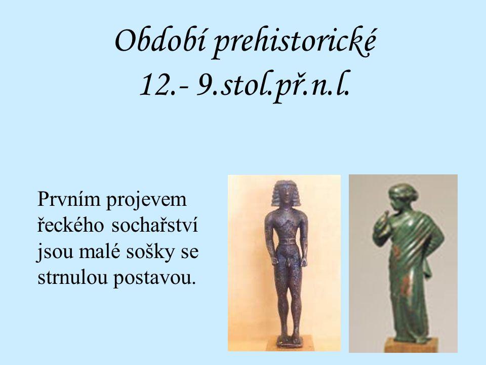 sochařství 1.Zobrazování ideálu lidské postavy 2.Znázorňování postav bohů 3.Smysl pro harmonii a proporce 4.Dochováno převážně z římských kopií ŘECKÉŘ