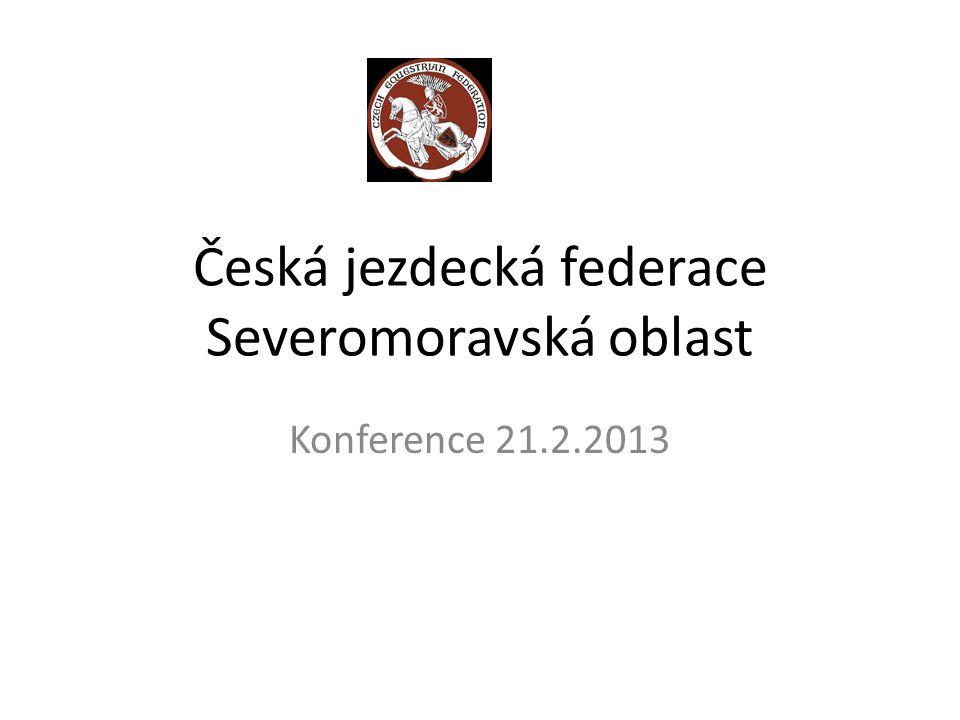 Česká jezdecká federace Severomoravská oblast Všestrannost 2012 MČR Y: Konečný-Pančo 2.místo MČR J: Vrtek 1.místo MČR društva: S.Morava 2.