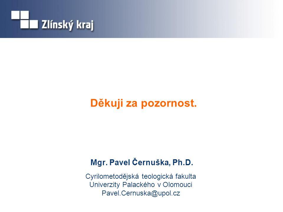 Děkuji za pozornost.Mgr. Pavel Černuška, Ph.D.