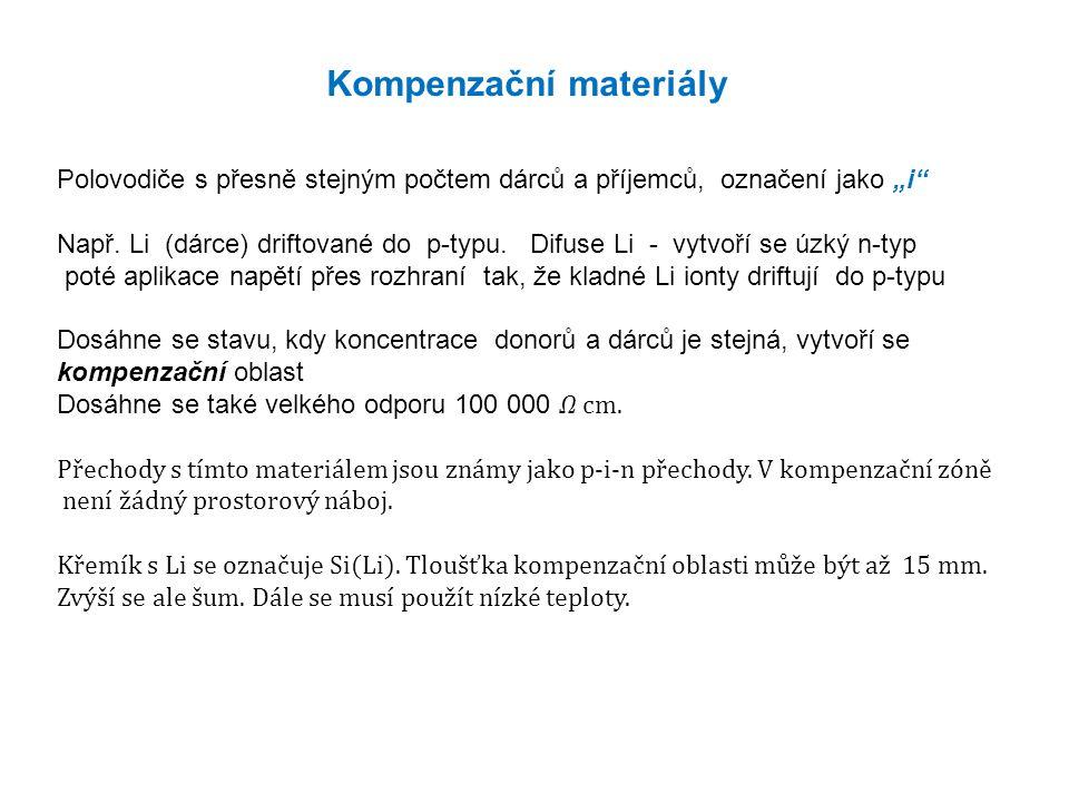 """Kompenzační materiály Polovodiče s přesně stejným počtem dárců a příjemců, označení jako """"i Např."""