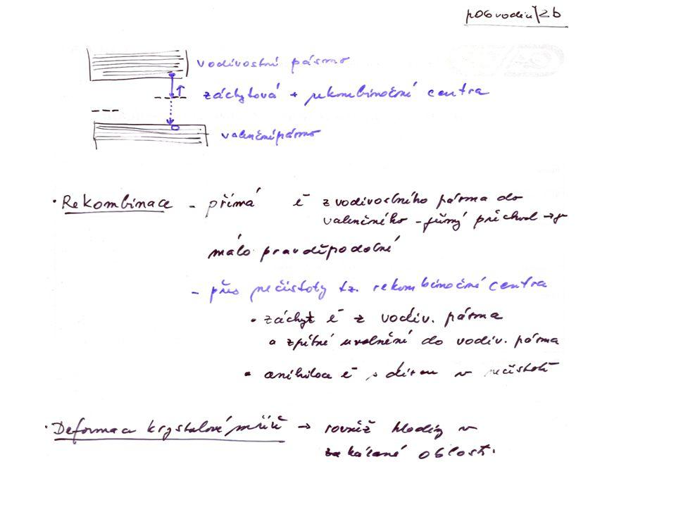 Konstrukce p-n přechodů p-typ.