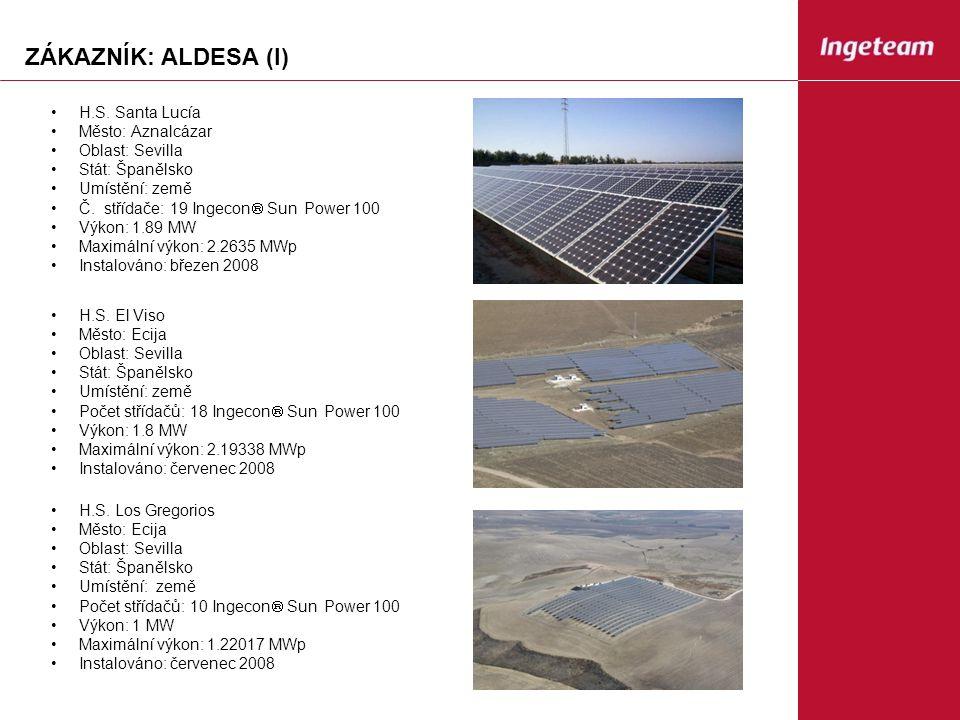 ZÁKAZNÍK: ALDESA (I) H.S.