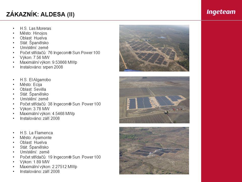 ZÁKAZNÍK: ALDESA (II) H.S.