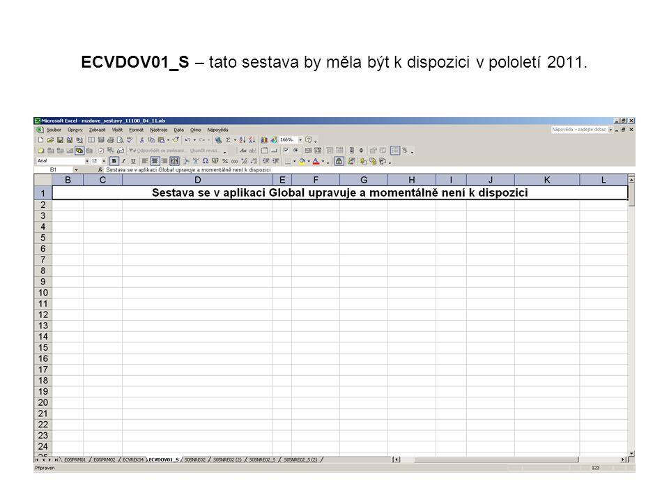 ECVDOV01_S – tato sestava by měla být k dispozici v pololetí 2011.
