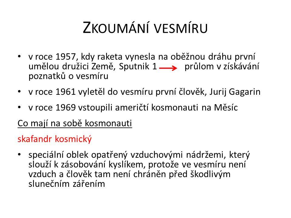 Z KOUMÁNÍ VESMÍRU v roce 1957, kdy raketa vynesla na oběžnou dráhu první umělou družici Země, Sputnik 1 průlom v získávání poznatků o vesmíru v roce 1