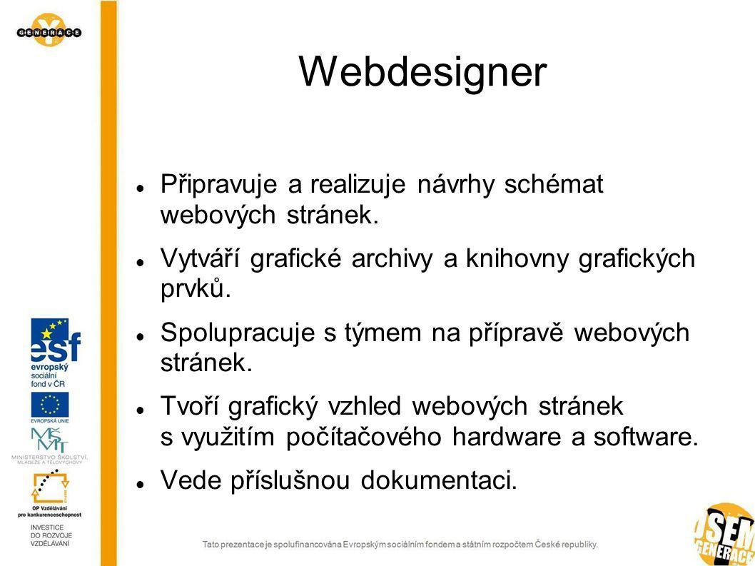 Informační technologie – magisterské vzdělání Inženýr IT Systémový inženýr řídicího systému Programátor analytik Specialista správy operačních systémů a sítí Systémový inženýr správy aplikací Webdesigner specialista