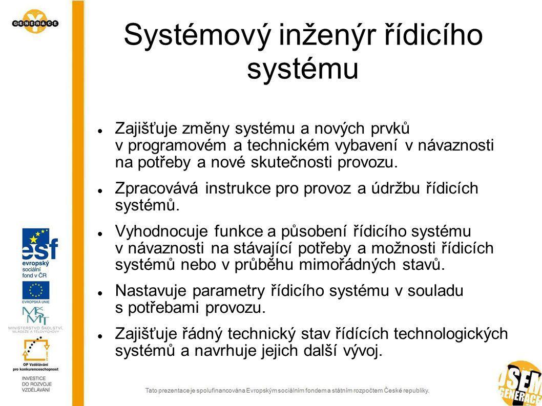 Programátor analytik Vytváří programové a datové struktury.