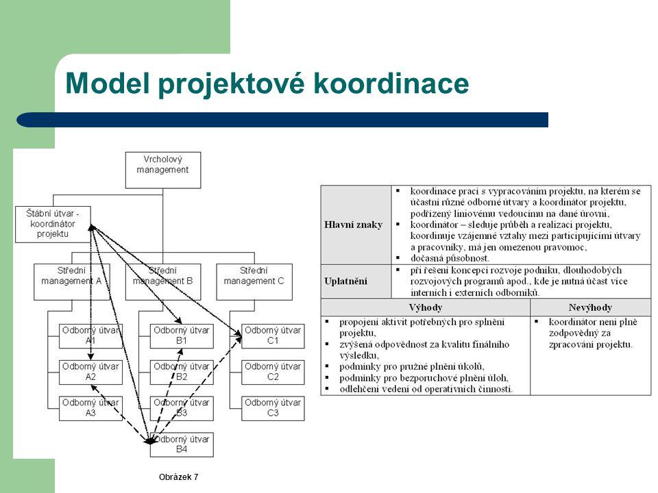 Model projektové koordinace Obrázek 7