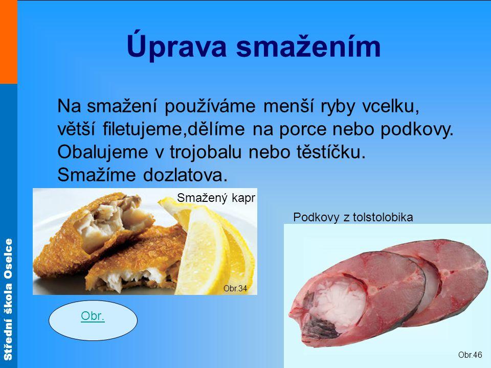 Střední škola Oselce Obr.34 Úprava smažením Obr.