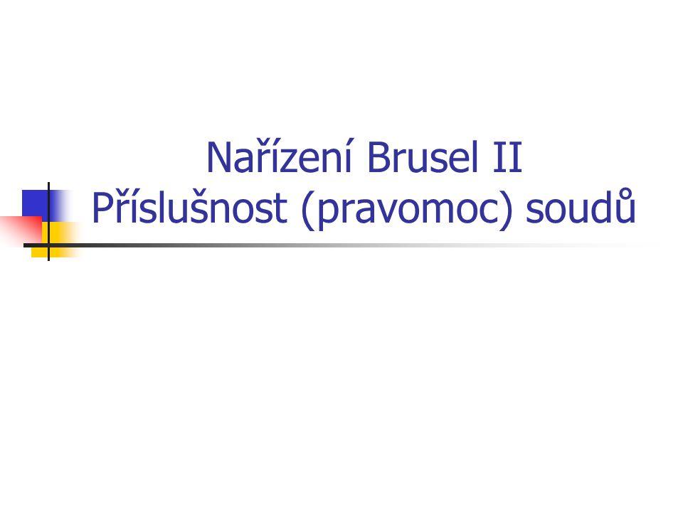 Nařízení Brusel II – uznání a výkon rozhodnutí Důvody pro odepření uznání jsou rozděleny do dvou okruhů – s ohledem na působnost nařízení na věci manželské a věci rodičovské zodpovědnosti.