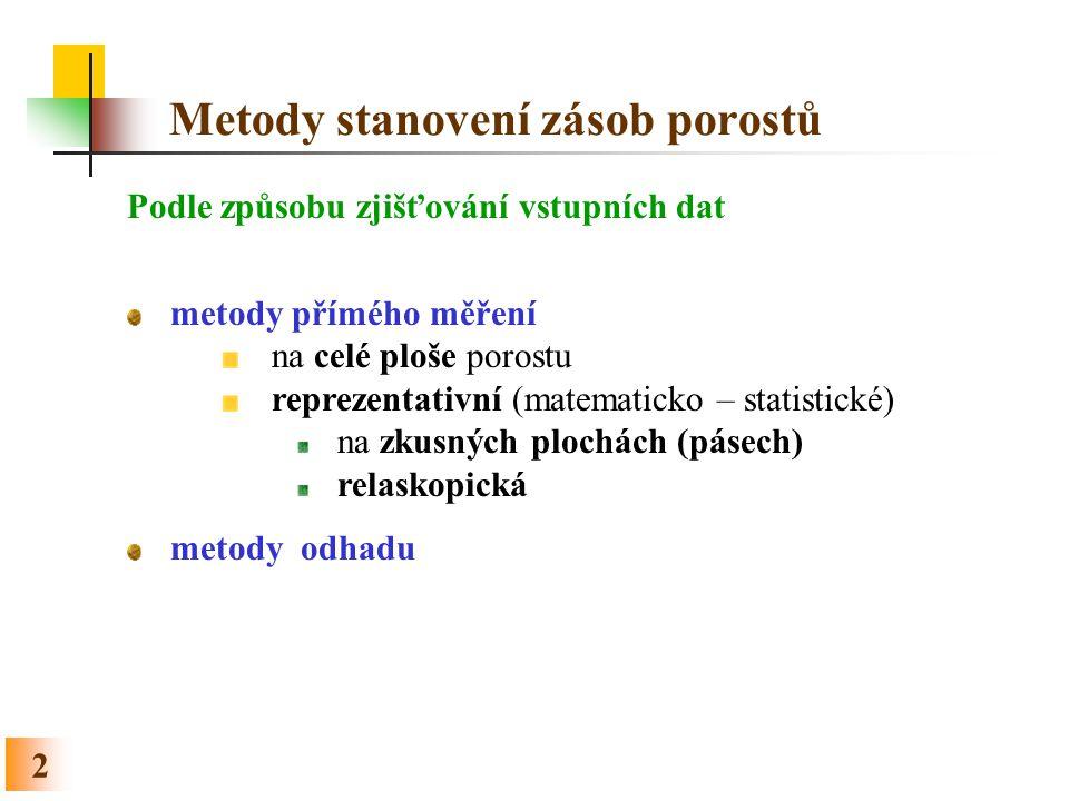 63 Relaskopická metoda - postup Sdružený grafikon pro korekci na svah a pro test racionality