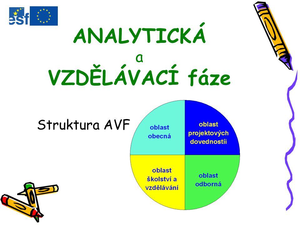 ANALYTICKÁ a VZDĚLÁVACÍ fáze Struktura AVF