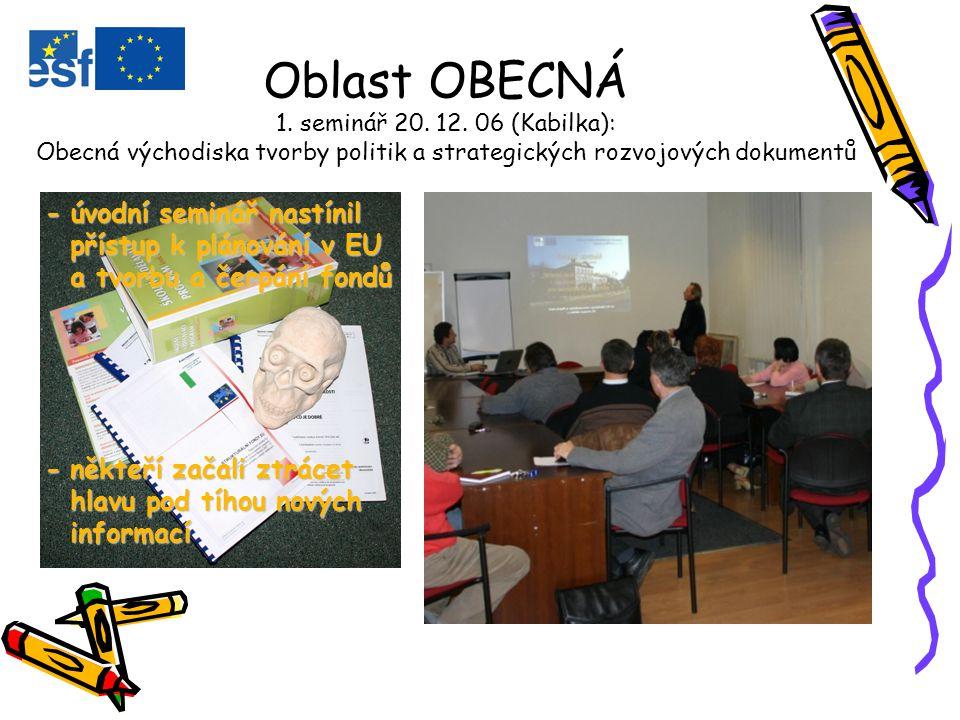 Oblast OBECNÁ 1. seminář 20. 12.
