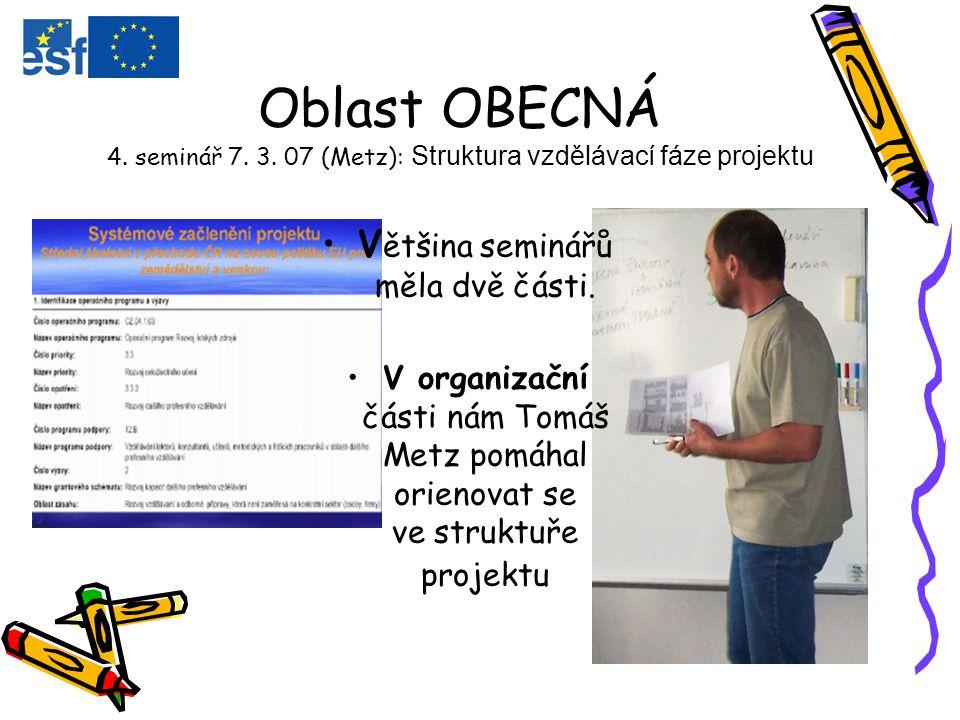 Oblast OBECNÁ 4. seminář 7. 3.