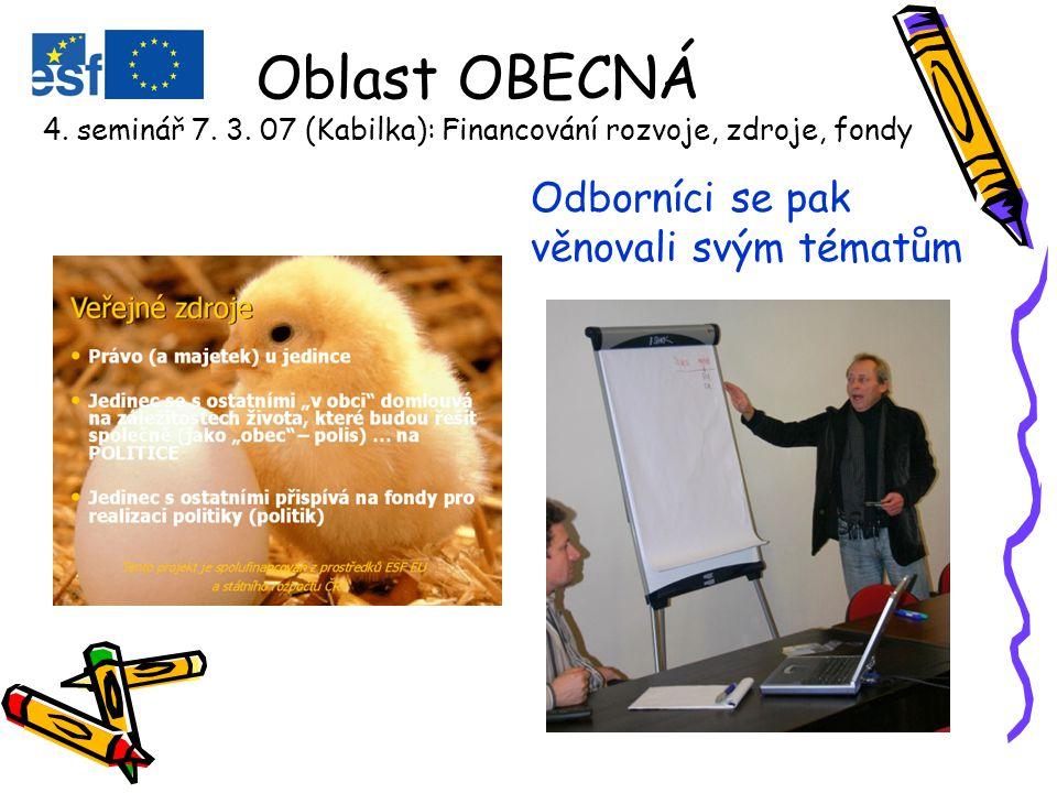 Oblast OBECNÁ – ICT dovednosti 3.seminář 14. 2.