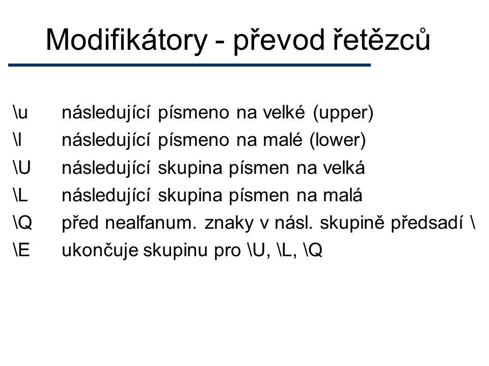 Přednost (precedence) ** .* / % x + -.