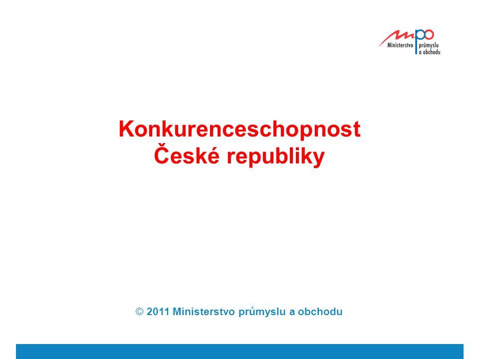 Konkurenceschopnost České republiky © 2011 Ministerstvo průmyslu a obchodu